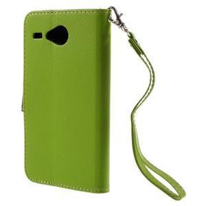 Lístečkové pouzdro na Acer Liquid Z520 - zelené - 2