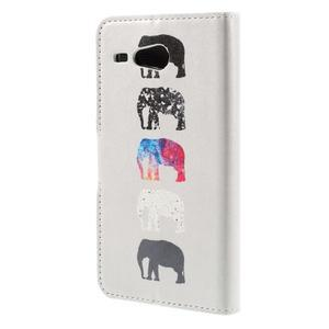 Nice koženkové pouzdro na mobil Acer Liquid Z520 - sloni - 2