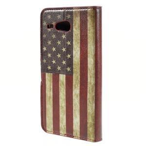 Nice koženkové pouzdro na mobil Acer Liquid Z520 - US vlajka - 2