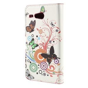 Nice koženkové pouzdro na mobil Acer Liquid Z520 - motýlci - 2