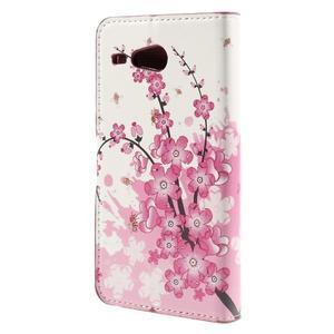 Nice koženkové pouzdro na mobil Acer Liquid Z520 - kvetoucí větvička - 2