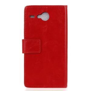 Stanley PU kožené pouzdro na Acer Liquid Z520 - červené - 2