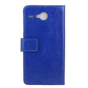Stanley PU kožené pouzdro na Acer Liquid Z520 - modré - 2