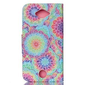 Luxy peněženkové pouzdro na Acer Liquid Z530 - barevné květy - 2