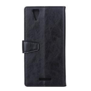 Leat PU kožené pouzdro na mobil Acer Liquid Z630 - černé - 2