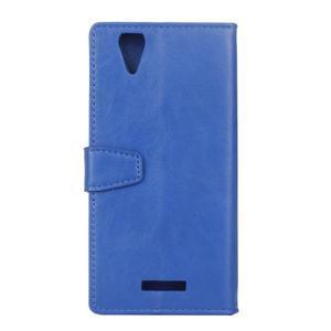 Leat PU kožené pouzdro na mobil Acer Liquid Z630 - modré - 2
