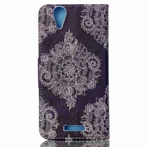 Peněženkové pouzdro na mobil Acer Liquid Z630 - retro květina - 2