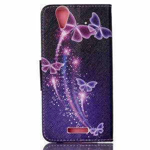 Peněženkové pouzdro na mobil Acer Liquid Z630 - kouzelní motýlci - 2