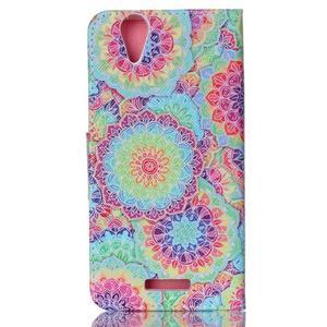 Peněženkové pouzdro na mobil Acer Liquid Z630 - barevné květy - 2