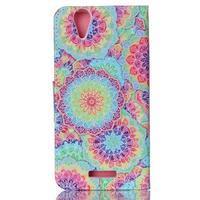 Peněženkové pouzdro na mobil Acer Liquid Z630 - barevné květy - 2/6