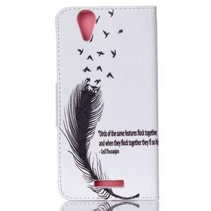 Peněženkové pouzdro na mobil Acer Liquid Z630 - ptačí peříčko - 2
