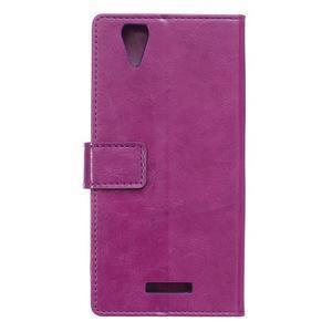 Leat PU kožené pouzdro na mobil Acer Liquid Z630 - fialové - 2
