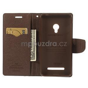 Černé/hnědé peněženkové pouzdro na Asus Zenfone 5 - 2