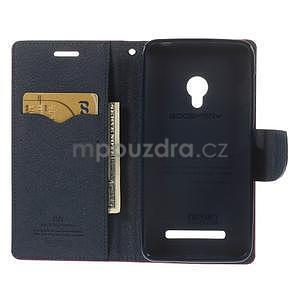 Rose/tmavě modré peněženkové pouzdro na Asus Zenfone 5 - 2