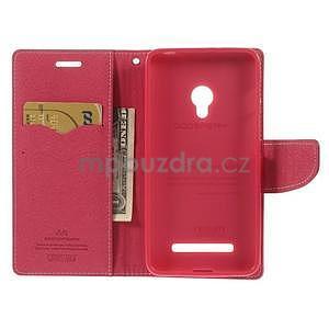 Růžové/rose peněženkové pouzdro na Asus Zenfone 5 - 2