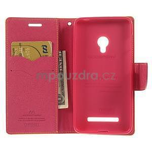 Žluté/rose peněženkové pouzdro na Asus Zenfone 5 - 2