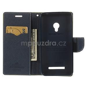 Zelené/tmavě modré peněženkové pouzdro na Asus Zenfone 5 - 2