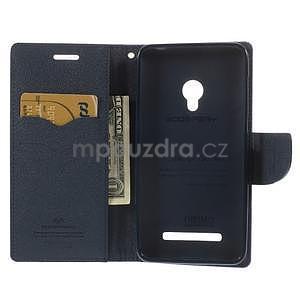 Fialové/tmavě modré peněženkové pouzdro na Asus Zenfone 5 - 2