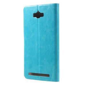 Horse peněženkové pouzdro na Asus Zenfone Max - modré - 2