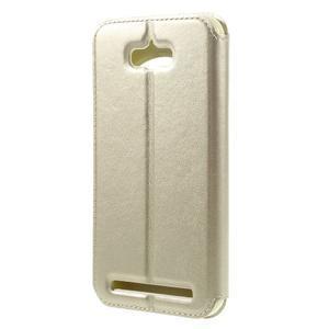 Luxusní pouzdro s okýnkem na mobil Asus Zenfone Max - zlaté - 2