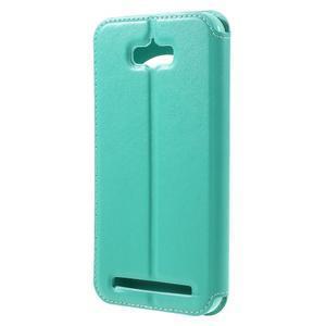 Luxusní pouzdro s okýnkem na mobil Asus Zenfone Max - cyan - 2