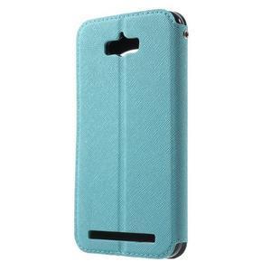 Diary peněženkové pouzdro s okýnkem na Asus Zenfone Max - světlemodré - 2