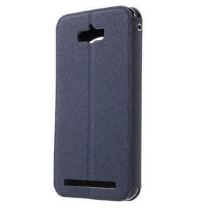 Diary peněženkové pouzdro s okýnkem na Asus Zenfone Max - tmavěmodré - 2