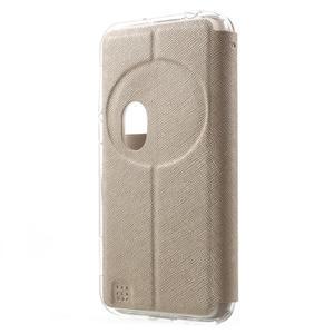 Peněženkové pouzdro s okýnkem na Asus Zenfone Zoom - zlaté - 2