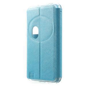 Peněženkové pouzdro s okýnkem na Asus Zenfone Zoom - modré - 2