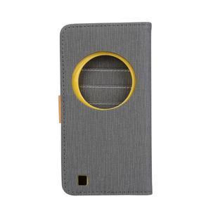 PU kožené pouzdro na Asus Zenfone Zoom - šedé - 2