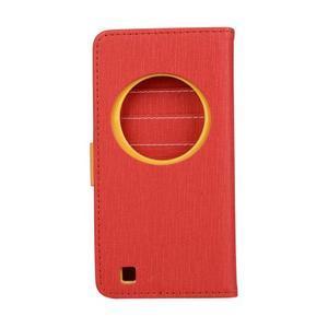 PU kožené pouzdro na Asus Zenfone Zoom - červené - 2