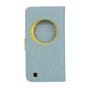 PU kožené pouzdro na Asus Zenfone Zoom - světlemodré - 2