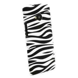Plastový kryt na HTC One M7 - zebra - 2