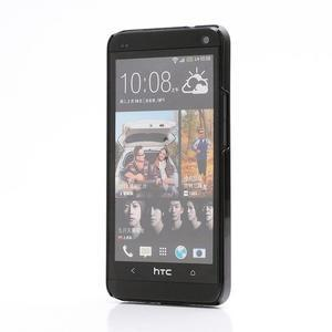 Broušený hliníkový plastový kryt na HTC One M7 - stříbrný - 2