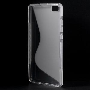 Transparentní S-line gelový obal na Huawei Ascend P8 Lite - 2