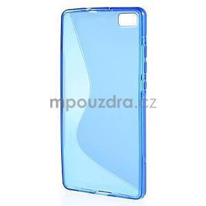 Modrý S-line gelový obal na Huawei Ascend P8 Lite - 2