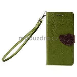 Zapínací PU kožené pouzdro na Huawei P8 Lite - zelené - 2