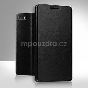 PU kožené pouzdro na Huawei P8 Lite - černé - 2