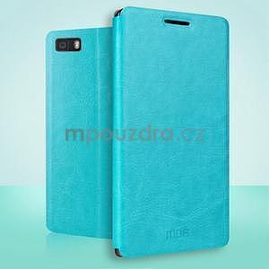 PU kožené pouzdro na Huawei P8 Lite - modré - 2