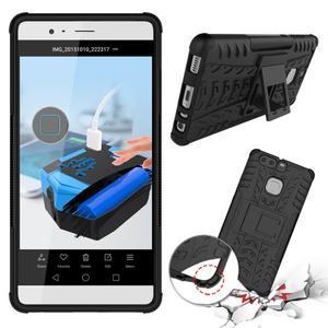 Outdoor ochranný kryt na mobil Huawei P9 - černé - 2
