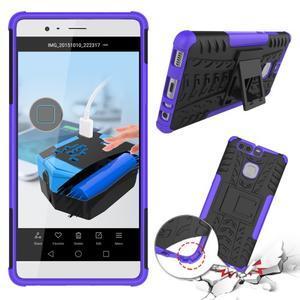 Outdoor ochranný kryt na mobil Huawei P9 - fialový - 2