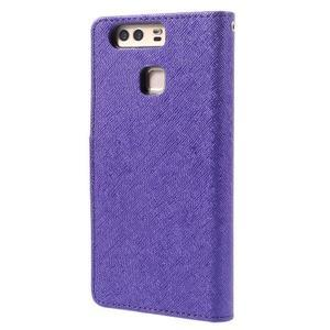 Crossy peněženkové pouzdro na Huawei P9 - fialové - 2