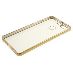 Stylový gelový obal se zlatým lemem na Huawei P9 - 2