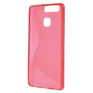 S-line gelový obal na mobil Huawei P9 - červený - 2