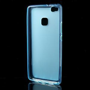 Matný gelový obal na mobil Huawei P9 lite - modrý - 2