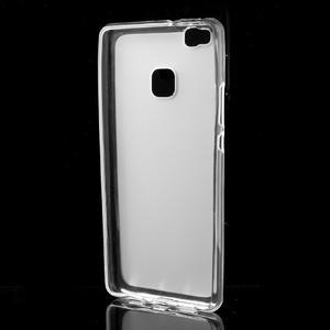Matný gelový obal na mobil Huawei P9 lite - transparentní - 2