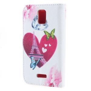 Peněženkové pouzdro na mobil Huawei Y3 a Y360 - srdce - 2