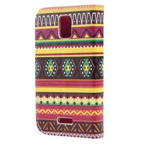 Peněženkové pouzdro na mobil Huawei Y3 a Y360 - tribal - 2