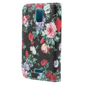Peněženkové pouzdro na mobil Huawei Y3 a Y360 - květiny - 2