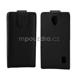 Flipové pouzdro na Huawei Ascend Y635 - černé - 2